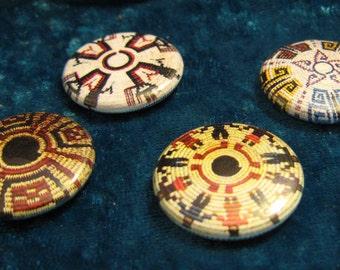 Baskets 2 Native American Button Set