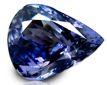 Tanzanite - Beautiful, Flawless, Huge, Pear Cut Tanzanite, AAA, D- BlockBlue in Color and has a Strong Luster 3.51 Carats
