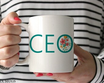 CEO Mug, Boss Lady Mug, Boss Mug, Mugs for Boss, Lady Boss Mug, Gift for Boss, Office Mug, Gift for CEO, Mugs for Her, Ceramic Mugs (Q4811)