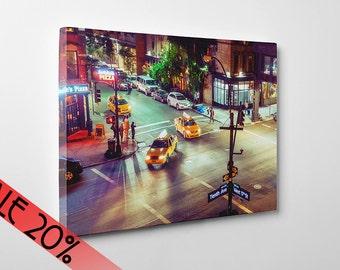 Canvas SALE! USA, New York photography, street photography, New York print, New York cab, USA photography, wall art print, canvas, #030c