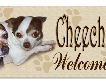 """Create Your Own Welcome Sign From Your Photo  Size 10-1/2"""" x  3-7/8"""" Metal Personalize Any Text In Any Colors Outdoor Weatherproof"""