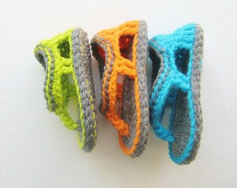 Crochet Sandals Pattern, Flip Flop Sandals Pattern for Baby Boys,Trekkers