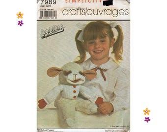 Lambchop Puppet Sewing Pattern Simplicity 7989 Vintage Sewing Pattern