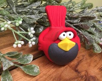Cardinal Christmas Ornament, Cardinal Ornament, stocking stuffer, bird ornament, unique ornament
