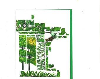 Minnesota Trees Mosaic Card