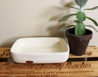 vintage planter 60s ceramic off white matte 1960s haeger succulent mid century rectangular