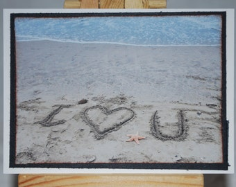 ACEO, Artist Trading Card, I love you photograph