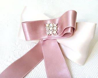 Vintage pink lady brooch