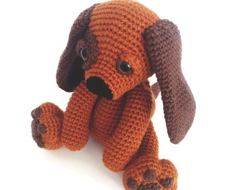 Moss the Puppy Dog - droopy dog - long earred dog - crochet puppy dog - plush puppy dog - plushie - crochet animals - nursery toy
