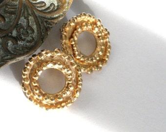 Large Gold Stud Earrings, Gold Earrings, Yellow Gold Earrings, Gold Plated Earrings, Medium Stud Earrings, Gold Post Earrings, Ear Decor