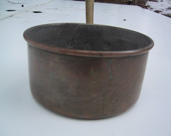 Vintage Sauce Pan Copper and Brass