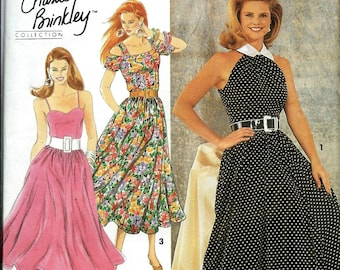 Simplicity 7799 Misses Dress Pattern, Christie Brinkley Collection, Size 4-8 UNCUT