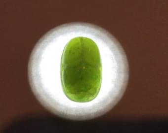 Carved Afghanistan green Garnet scarab