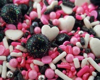 Paris sprinkle mix, Pink and Black sprinkles, Paris cake sprinkles, Paris cupcake sprinkles, Custom Sprinkles, Pink sprinkles, Sprinkles