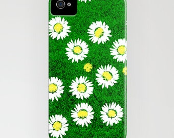 Daisy Flower on green grass Phone Case - iPhone 6S, iPhone 6 Plus, floral case, iPhone 8