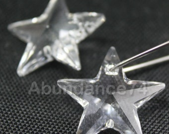 1pcs Swarovski Elements - Swarovski Crystal Pendant 6714 28mm Star Pendant - Crystal Clear
