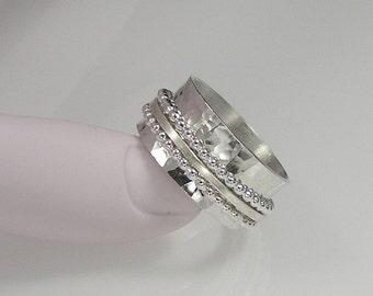 Sterling Silver Spinner Ring, Meditation Ring