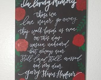 In loving memory canvas
