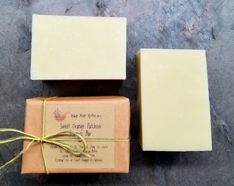 Sweet Orange and Patchouli Coconut Milk Shampoo Bar, Solid Shampoo Bar, Hemp Shampoo Bar, Eco friendly Shampoo, Sulfate Free Shampoo