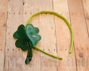 4 Leaf Clover - Headband Slider - Hair Jewelry - Cover - Bookband  - Can be Personalized or Monogram