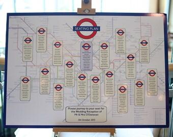 London Underground Table Plan