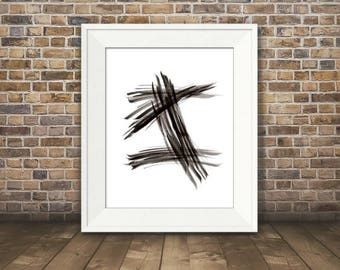 Expression #3, Abstract Black and White Art, Black and White Art Print, Minimalist Art