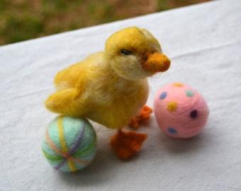 Needle Felted Animal-Duckling