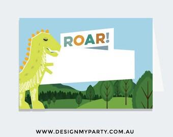 Dinosaur Buffet Labels or Name Cards (DIY Printables)