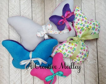 Simple Butterfly plush toy softie Embroidery Design - Instant download