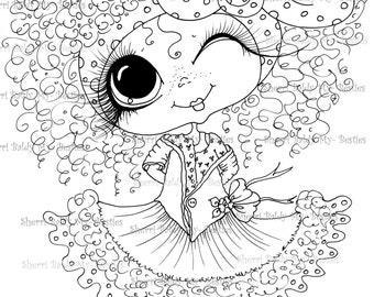 INSTANT DOWNLOAD Digital Digi Stamps Big Eye Big Head Dolls Digi  Img937  By Sherri Baldy