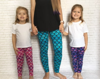 Mermaid Party - Mermaid Birthday - Mermaid Party Favors - Mermaid Birthday Outfit - Mermaid Bride - Mermaid Bridal Party - Mermaid Leggings