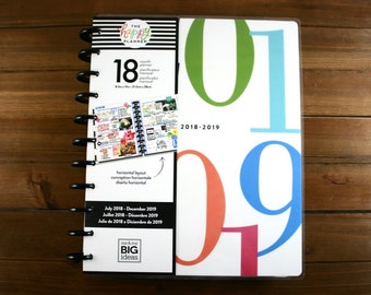 Create 365 18 Month Big Happy Planner / 2018-2019 Planner / Me and My Big Ideas / 2018- 2019 18 Month Happy Planner / 18 Big Happy Planner