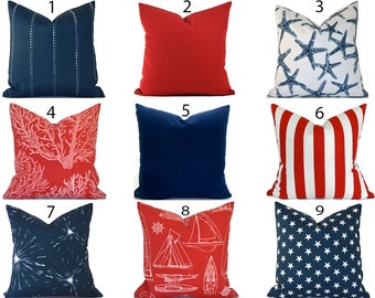 Red Outdoor Pillows ANY SIZE Outdoor Cushions Outdoor Pillow Covers Decorative Pillows Outdoor Cushion Covers Best Pillow OD You Choose