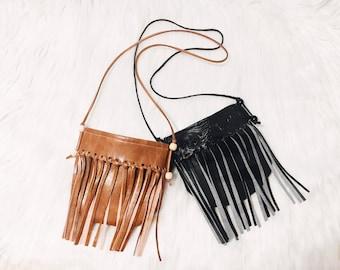 Kid's Fringe Crossbody Purse - kids accessories - birthday gift - boho purse