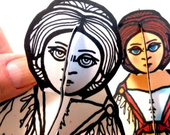 Ada Lovelace Set of Two Paper Doll - Printable Toy