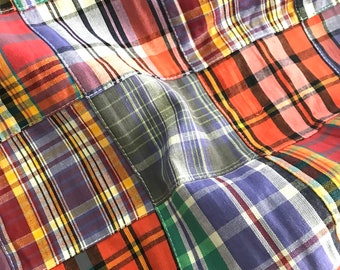 Robert Kaufman - Nantucket Patchwork 2 - Sunrise - Yarn Dyed Cotton Madras Plaid Patchwork
