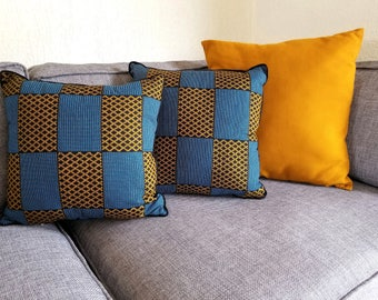 Ankara Print Cushion Cover / African Print Cushion Cover / African Pillow / African Cushion