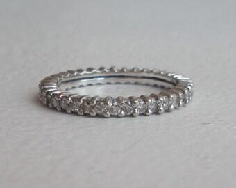 Diamond Eternity Band - Wedding Band - 14k Prong set