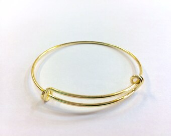Bangle Bracelet closed adjustable 60mm for jewelry designs