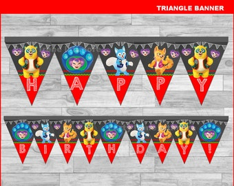 Special Agent Oso triangle Banner Instant download, Special Agent Oso Chalkboard Banner, Special Agent Oso party banner
