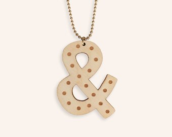 Lasercut ampersand necklace