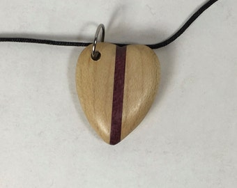 Maple and Purpleheart Wooden Pendant