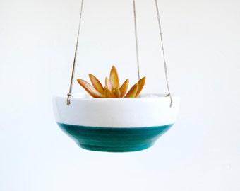 Ceramic simple hanging planter for succulent, Ceramic hanging plant pot, Ceramics & pottery, Pottery hanging planter,Cacti planter, NoeMarin