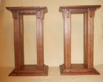 Mission - Arts and Crafts Style Speaker Stands