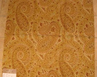 Autumn Paisley Tapestry Upholstery Designer Fabric Sample Highland Court 180529H