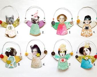 Spring fairy, fairies, ornament, decoration, micro, paper craft