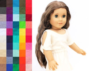 Fits like American Girl Doll Clothes - Trendy Cold Shoulder Dress, You Choose Color | 18 Inch Doll Clothes
