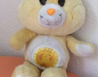 "Vintage Care Bear - Funshine Bear - 1983 13"" tall"