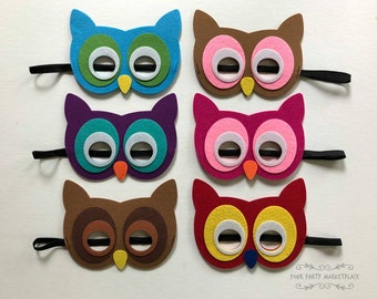 Owl Masks, Owl Birthday, Kids Animal Masks, Owl Party, Owl Baby Shower, Owl Party Decorations, Owl Party Favors, Animal Party Favors