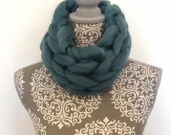 Handmade merino wool snood (neck warmer)
